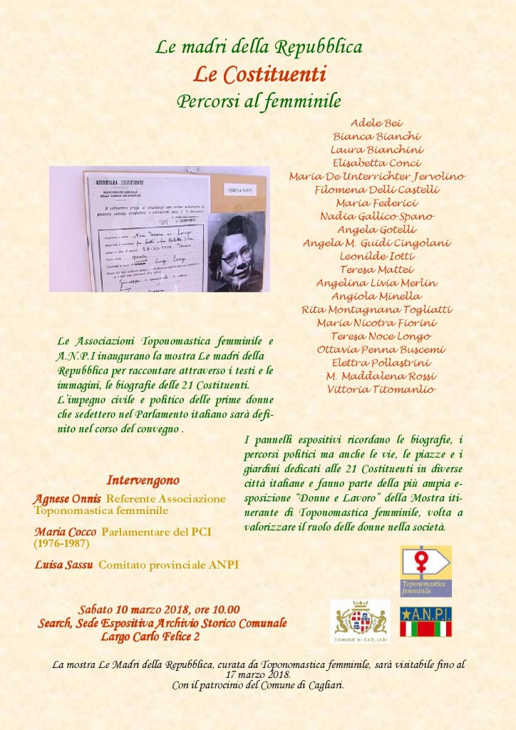 2018 10-3 Mostra Toponomastica locandina def