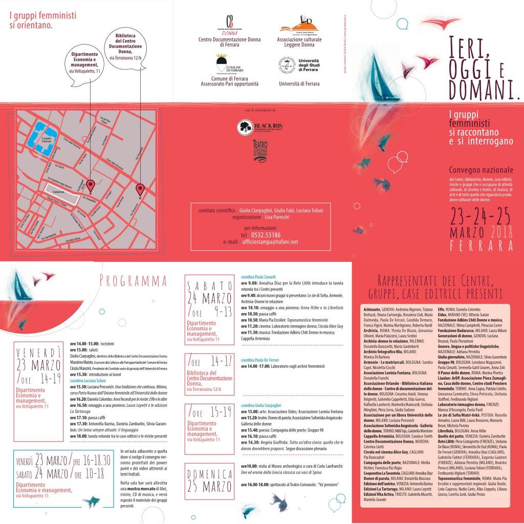 Programma femminista Ferrara 23-25 marzo 2018