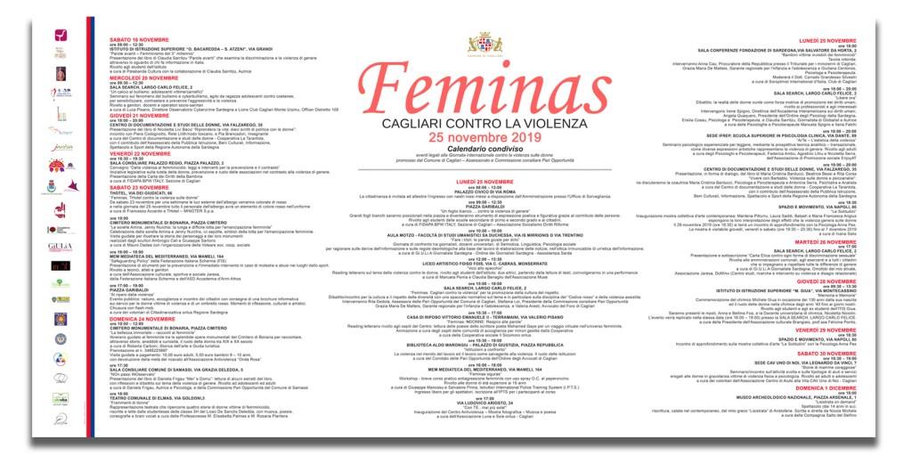 Calendario Feminas 2019 per stampa A3