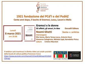 Locandina presentazione Gramsci e le donne
