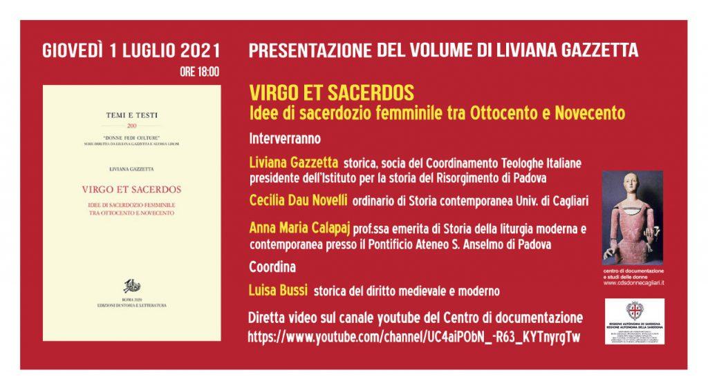 Banner presentazione Viego et Sacerdos - 1 luglio 2021